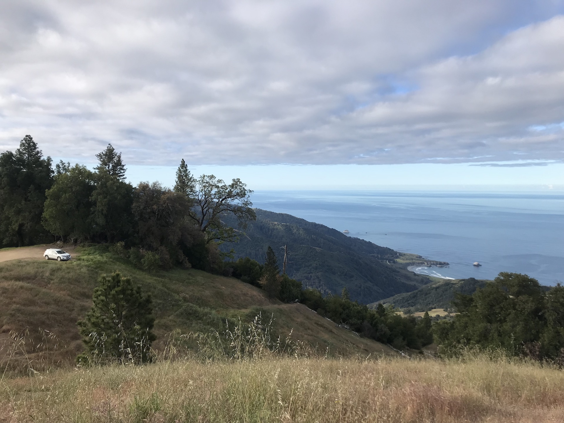 Free campsite along Big Sur and highway 1