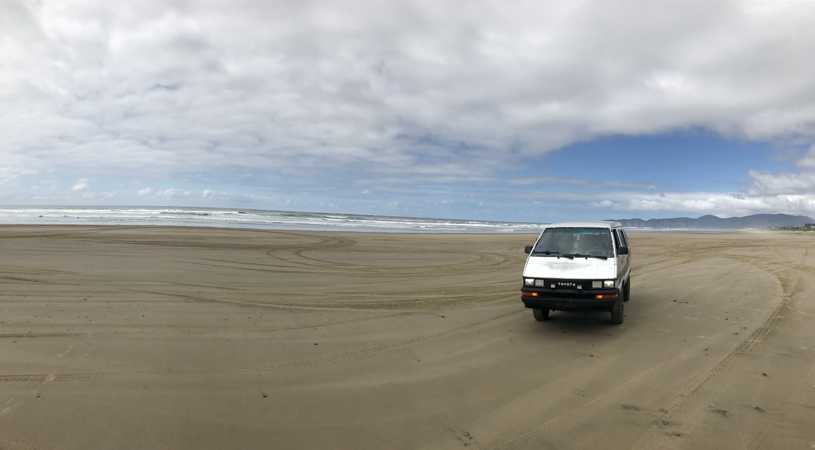 Driving on the beach in Oregon